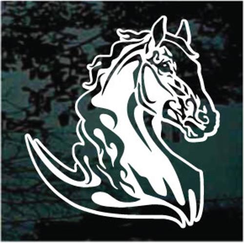 Beautiful Flaming Horse Head