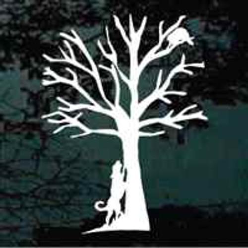 Coonhound Treeing Raccoon