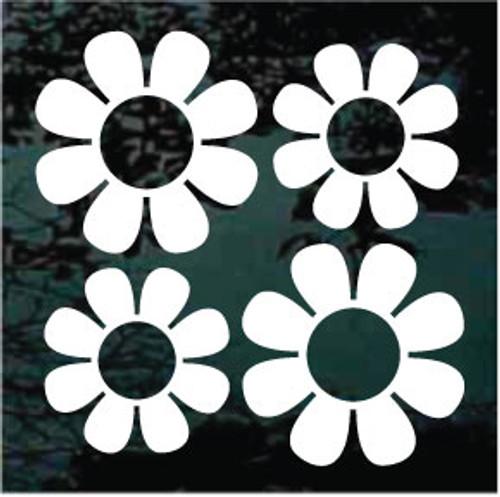 Daisies 02 - Set of Four - 2 - 3'' + 2 - 2.1/2''