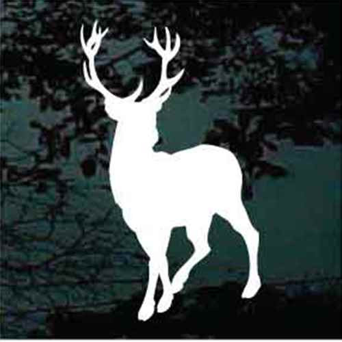 12 Point Buck Deer Silhouette