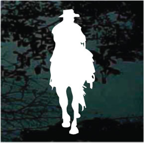 Cowboy Riding Silhouette