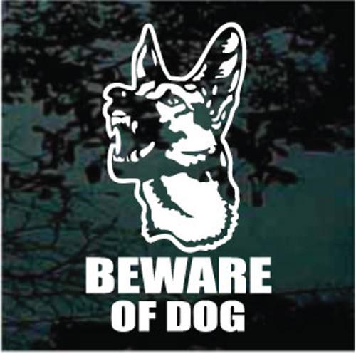 German Shepherd Beware Of Dog
