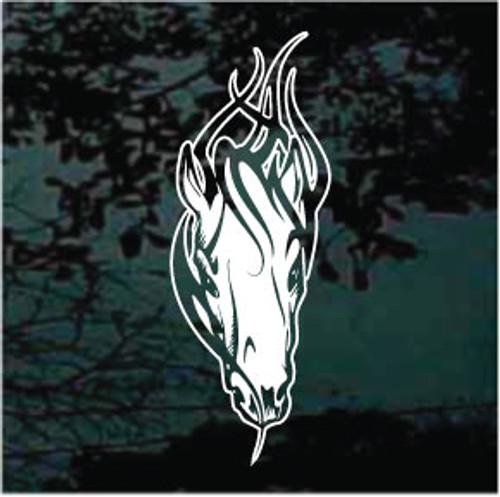 Flaming Horse Head 01