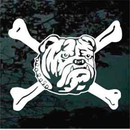 Bulldog Head Crossbones