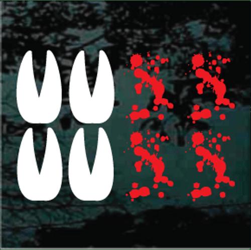 Deer Track Blood Splatters Decals