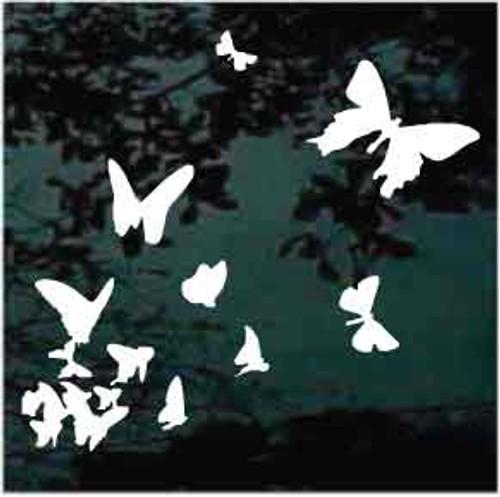 Butterflies in flight Butterfly Decals