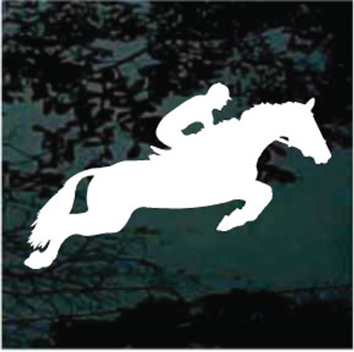 Horse Jumping Silhouette With Rider