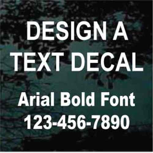 Arial Bold Custom Text