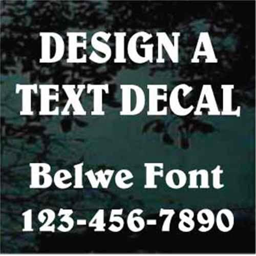 Belwe Font Custom Text