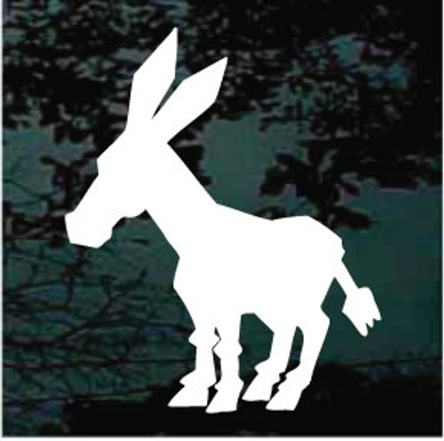 Cartoon Donkey Silhouette