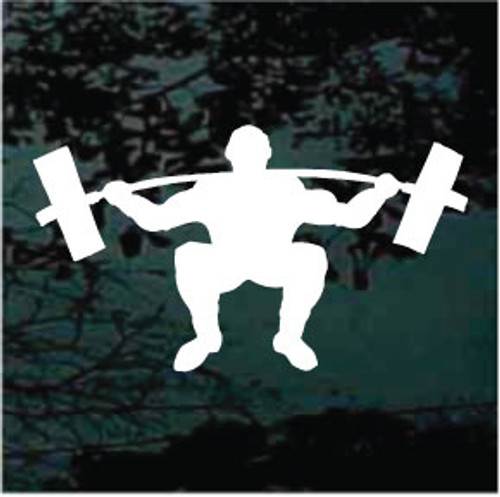 Bodybuilder Lifting Weights Silhouette