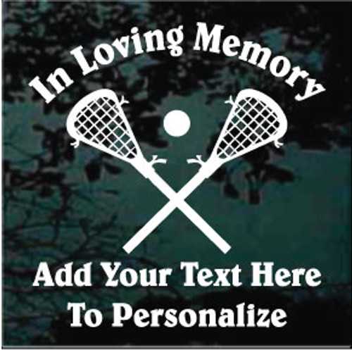 Lacrosse Sticks Memorial