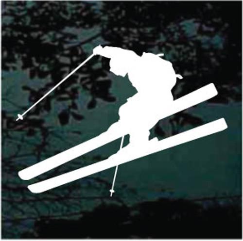 Snow Skiing Silhouette 02