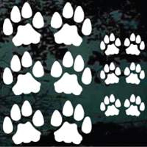 Cat Paw Print Decals