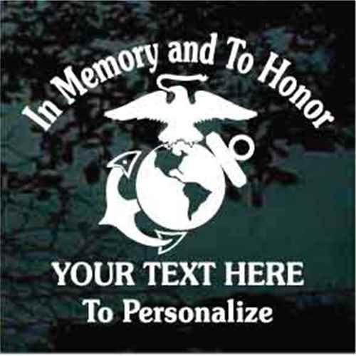 Marines Veteran Memorial Decals