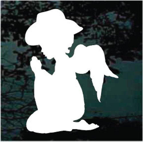 Cowgirl Angel Praying Silhouette