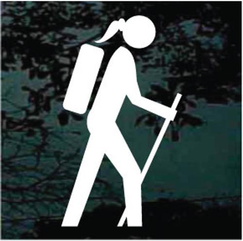 Girl Hiking Symbol 01