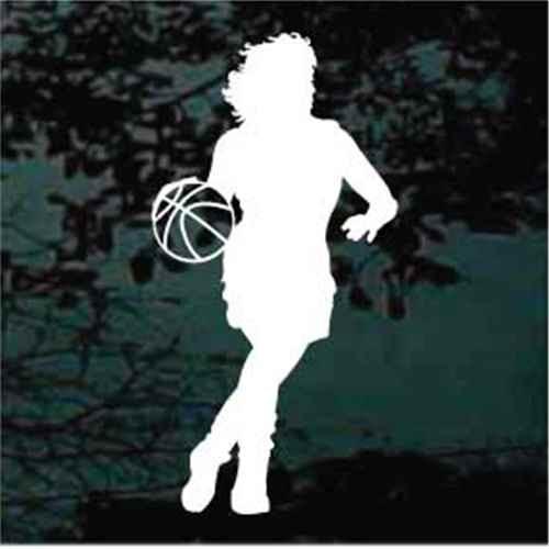 Basketball Girl Dribbling