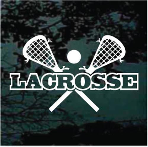 Lacrosse Sticks Crossed Design