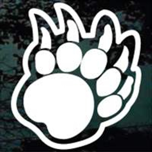 Bear Paw Print Decals