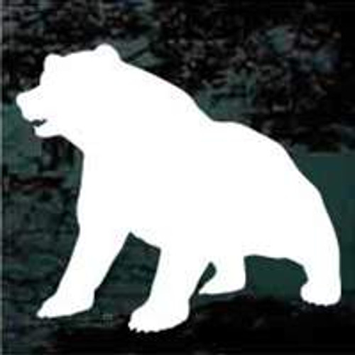 Bear Sitting Silhouette Bear Decals