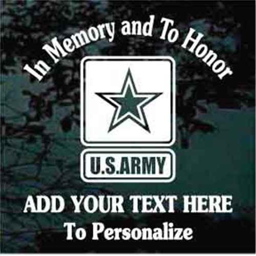 Army Veteran Memorial Veteran Decals