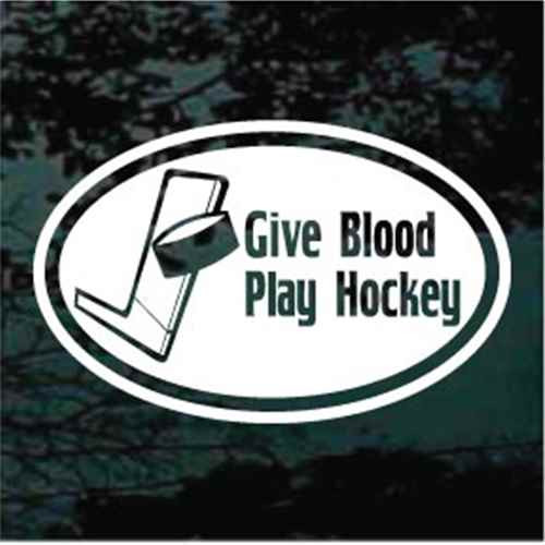 Give Blood Play Hockey Oval