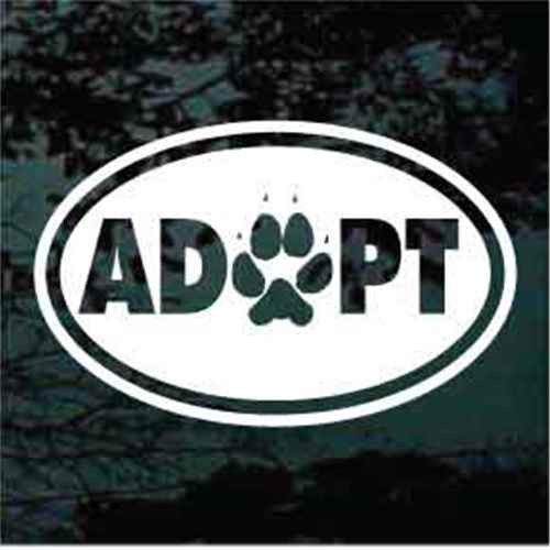 Adopt Oval With Paw Print