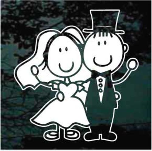 Bride & Groom Cartoon 01