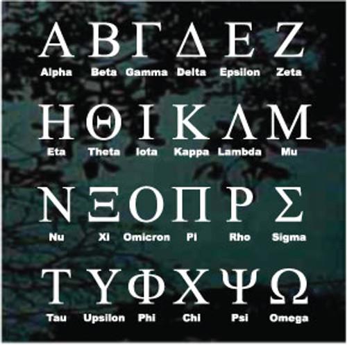 Fraternity Greek Letter Monogram