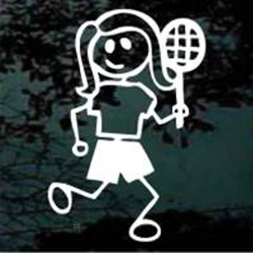 Stick Family Girl Tennis Player