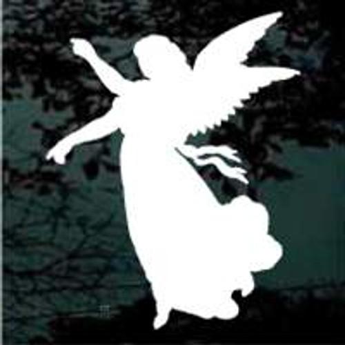 Angel Reaching Silhouette
