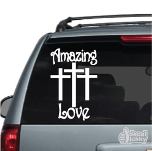 Amazing Love Christian Car Decal