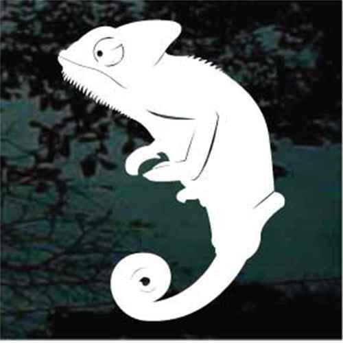 Chameleon Lizard Silhouette