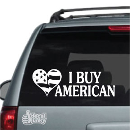 American Flag Heart American Flag Stickers