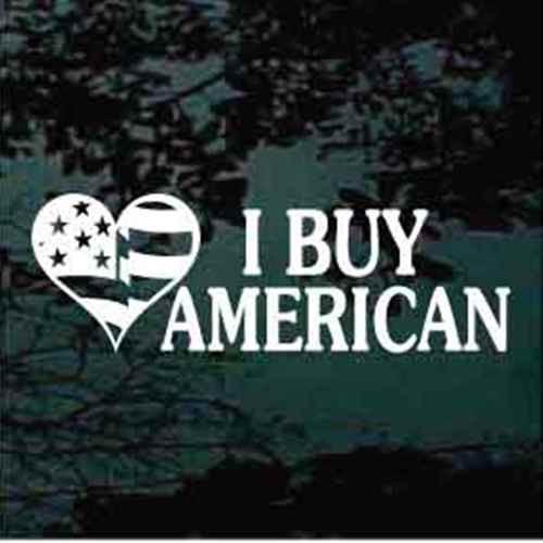 American Flag Heart American Flag Decals