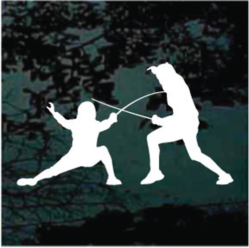 Competitive Fencing Silhouette