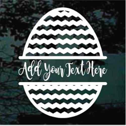 Chevron Easter Egg Border