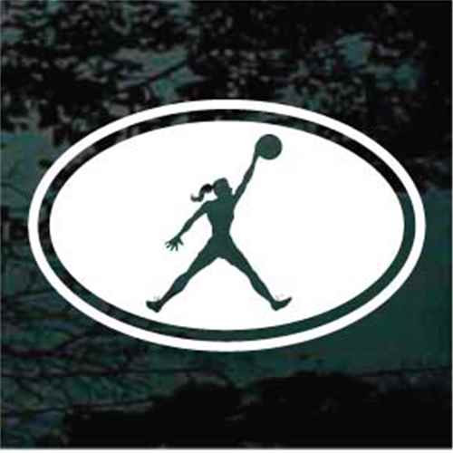 Basketball Girl Oval
