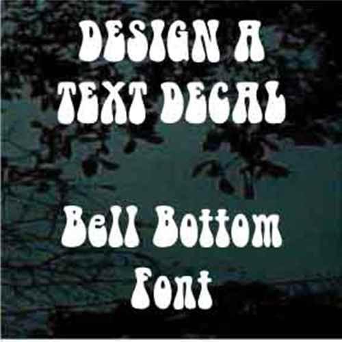 Bell Bottom Font Custom Text