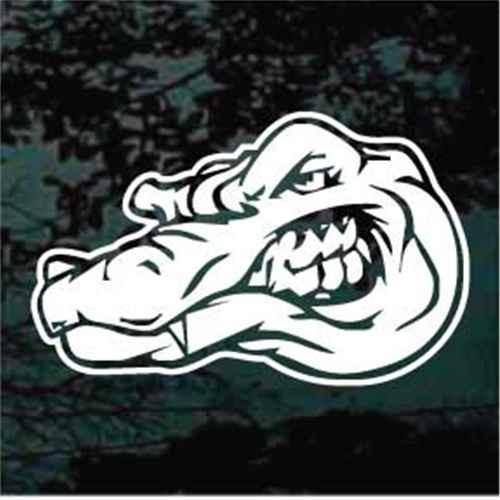 Alligator Head Showing Teeth Alligator Decals