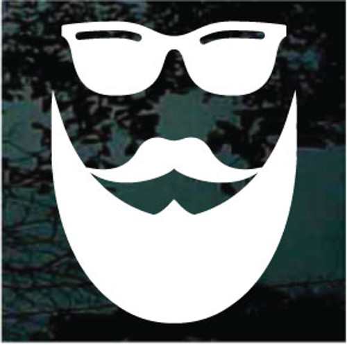 Hipster With Mustache, Beard & Sunglasses