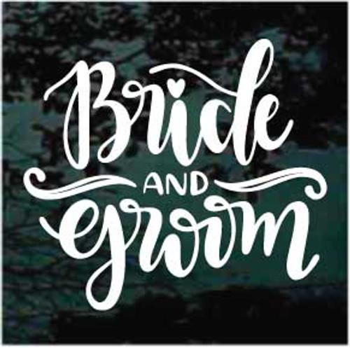 Bride & Groom Sign Window Decals