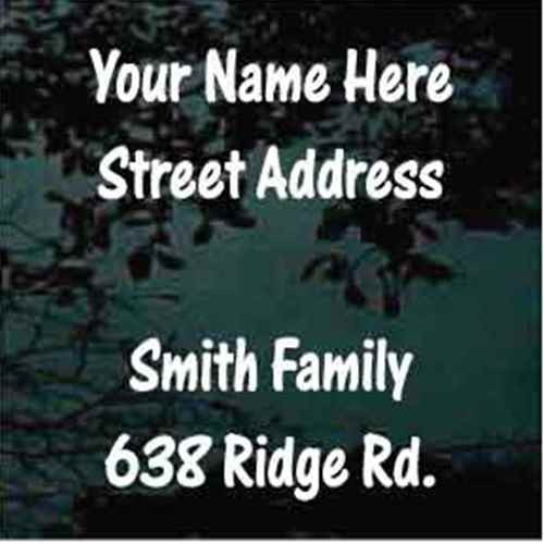 Street Address One Stroke Font Mailbox - Set of Two