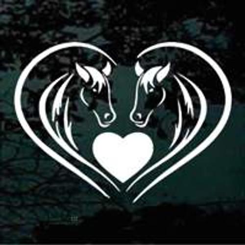 Arabian Horse Heads Heart