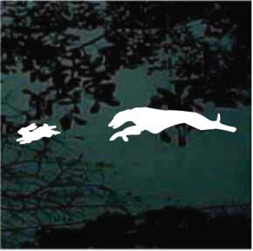 Greyhound Chasing Rabbit