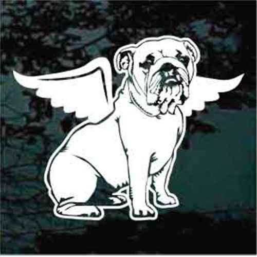 Bulldog Angel Wings Sitting