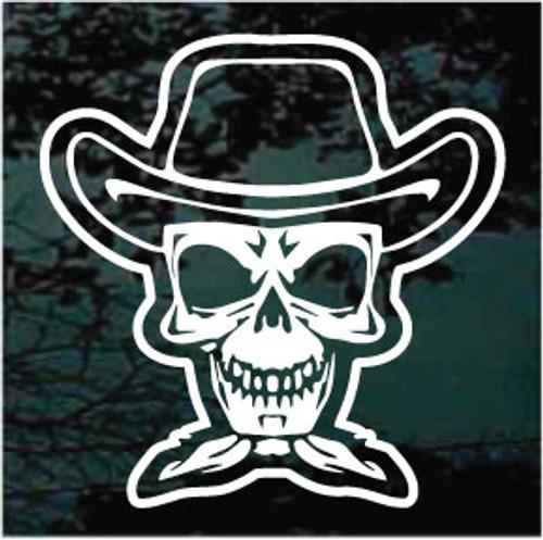 Cowboy Skull Wearing Bandana