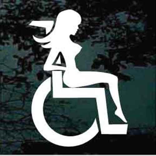 Mud Flap Girl in Wheelchair