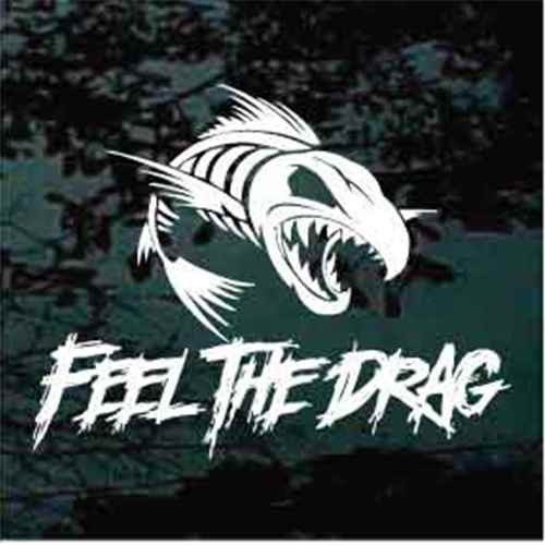 Feel The Drag Fish Skeleton Bones